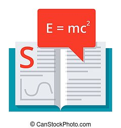 Theory Vector Icon - Scientific theory concept with book and...