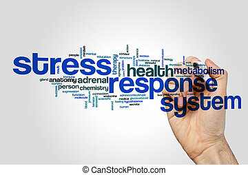 Stress response system word cloud concept - Stress response...