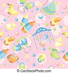 seamless cute baby background - abstract seamless cute baby...