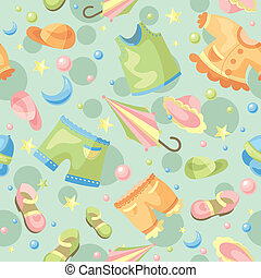 seamless baby background - abstract cute seamless baby...