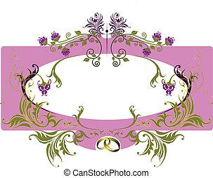 Wedding card or Valentine Day card