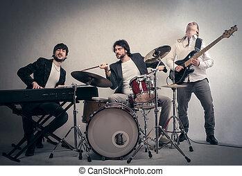 Band of three man