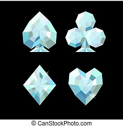 Diamond poker background, vector illustration