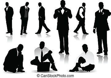 Handsome  men  silhouettes