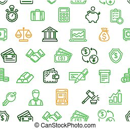 Finance Pattern Background. Vector