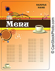 Restaurant (cafe) menu