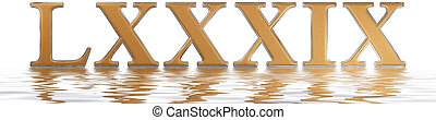 Roman numeral LXXXIX, novem et octoginta, 89, eighty nine,...