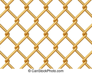 chainlink fence on white background