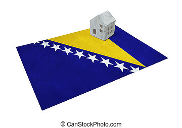 Small house on a flag - Bosnia Herzegovina - Small house on...