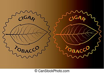 tobacco cigar sticker - vector illustration