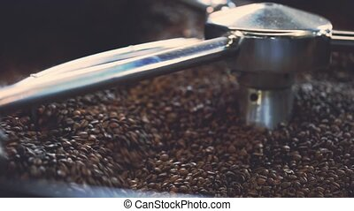 Coffee beans after roasting - Cooling coffee beans after...