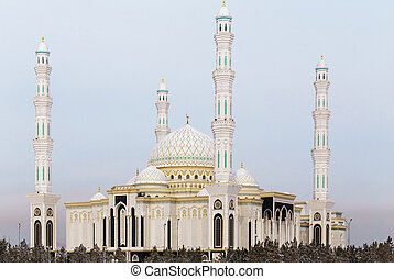 New mosque in the capital of Kazakhstan. The Mosque Hazrat...
