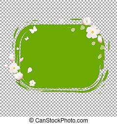 Green Stain With Flowers