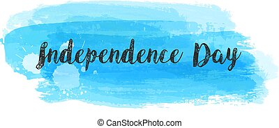 Independence day on blue brushed background