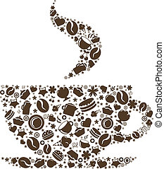 Abstract Cup Of Coffee - Cup Of Coffee, Stylized Image,...