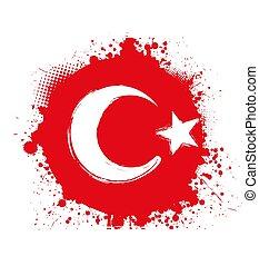 Grunge Turkey flag