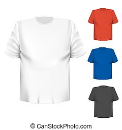 Blank t-shirt any color over white background