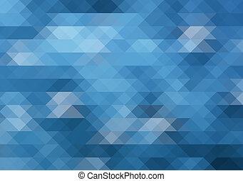 blaues, Abstrakt, hintergrund