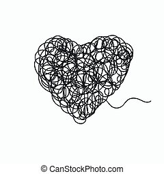 doodle in form of heart