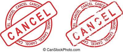 circle cancel sticker stamp set - cancel sticker stamp set...