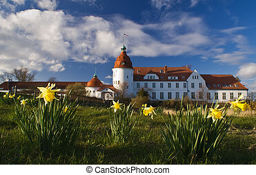 Castle in Denmark, spring
