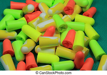 Protective ear plugs - These are color protective ear plugs.