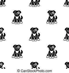Dog icon in black style isolated on white background. Animal One pattern stock vector illustration