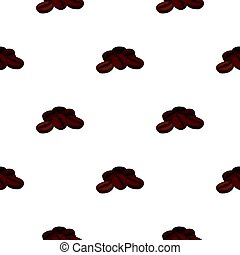 Coffee beans icon in cartoon style isolated on white...