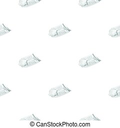 Crumpled paper icon in cartoon style isolated on white...
