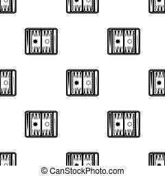 Backgammon icon in black style isolated on white background....
