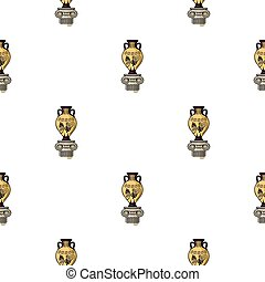 Amphora icon in cartoon style isolated on white background....