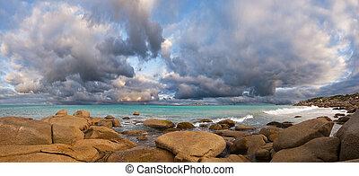 Ocean storm, Granite Island, Victiria, Australia