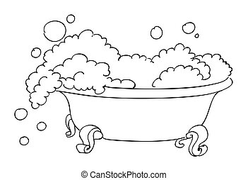 Vecteur eps de baignoire dessin anim dessin anim baignoire csp15567744 - Email de baignoire abime ...