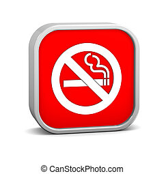 No smoking sign on a white background Part of a series
