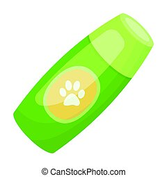 Shampoo for animals.Pet shop single icon in cartoon style...