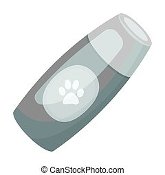 Shampoo for animals.Pet shop single icon in black style...
