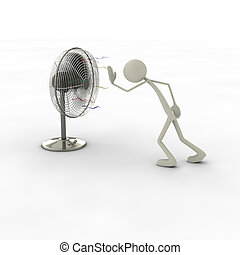 Figure with fan