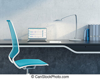 work place in the modern office