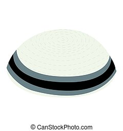 Isolated jewish kippa on a white background, Vector...