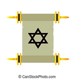 Isolated traditional torah on a white background, Vector...