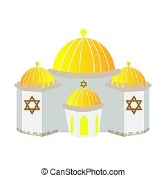 Isolated synagogue building on a white background, Vector...