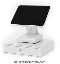 3d point of sale terminal with touch screen