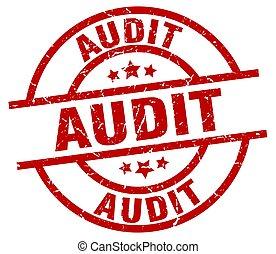 audit round red grunge stamp