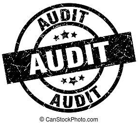 audit round grunge black stamp
