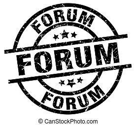 forum round grunge black stamp