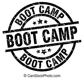 boot camp round grunge black stamp