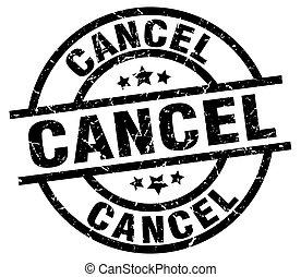 cancel round grunge black stamp