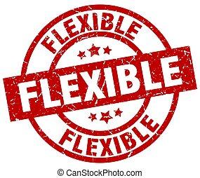 flexible round red grunge stamp