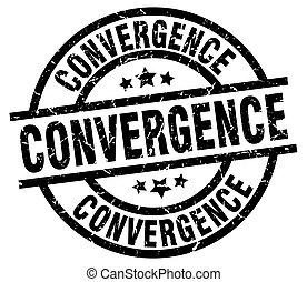 convergence round grunge black stamp