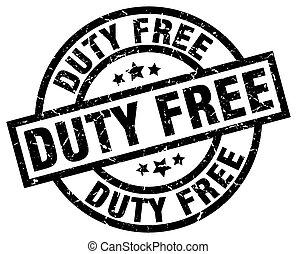 duty free round grunge black stamp